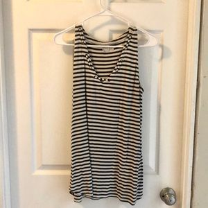 Army green and ivory striped tank
